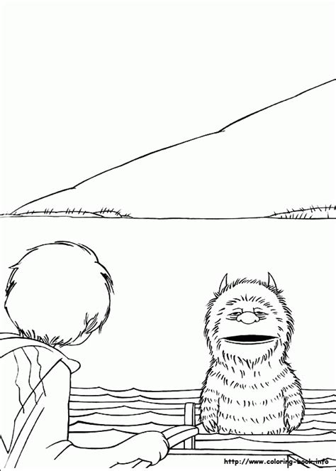 Where The Wild Things Are Coloring Pages Free - Coloring Home