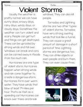 Main Idea and Details ( Multiple Paragraphs & Science