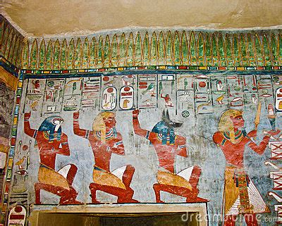 Ancient Egyptian Wall Painting Stock Photo - Image: 14387360