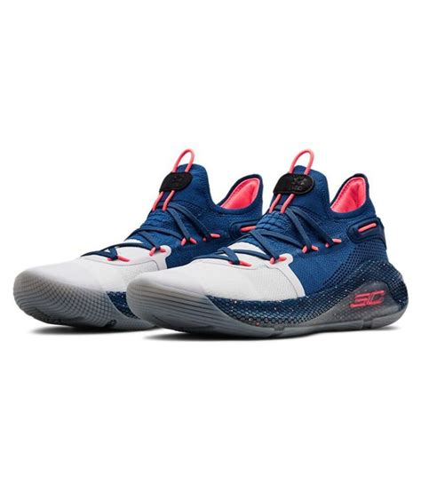 Under Armour Curry 6 Splash Blue Basketball Shoes - Buy