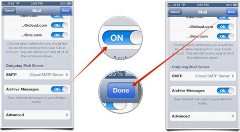How to enable message archiving for iCloud mail on iPhone