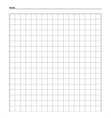 7 Grid Paper Templates – Samples , Examples & Format