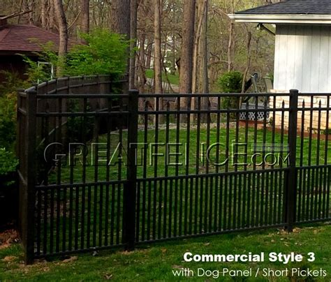 Commercial Aluminum Fence with 24 inch high dog panel