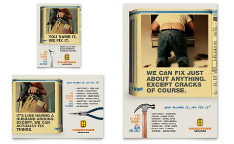 Home Repair Services Flyer & Ad Template - Word & Publisher