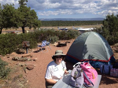 Payson fly-in camping - Paula and Ed
