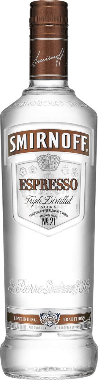 Smirnoff Espresso and Cola   Mixed Drinks   The Bar