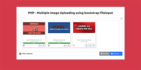 Ajax multiple image upload using bootstrap-fileinput in