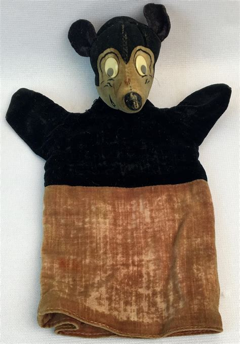 Lot - ULTRA RARE Vintage 1930's Mickey Mouse Hand Puppet
