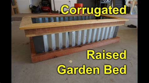 Corrugated raised garden bed - DIY Easy build project to