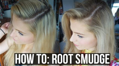 DIY Balayage, Sombre, Root Smudge Blonde hair with Dark