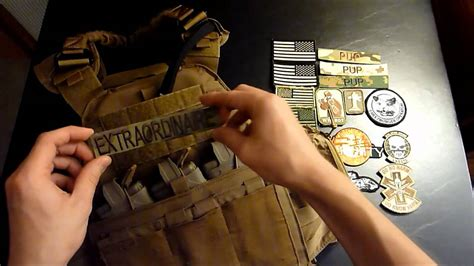 How To Put Patches On A Plate Carrier - YouTube