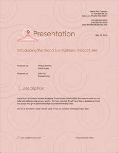 Fashion Industry Sample Proposal - 5 Steps