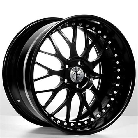 """20"""" Staggered AC Forged Wheels AC313 Matte Black Three"""