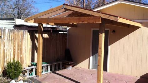 Building a Patio Cover Patio Cover Install Part 2 - YouTube