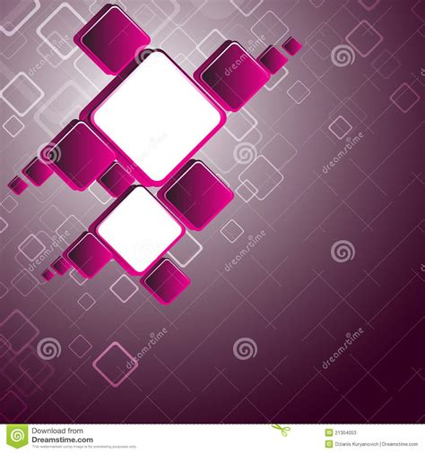 Abstract Pink Square Background Stock Photos - Image: 21304053