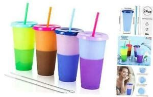 Color Changing Cups Tumblers With Lids And Straws Plastic