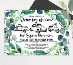 13 Drive by Shower Invitations ideas | shower invitations